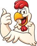 happy cartoon chicken